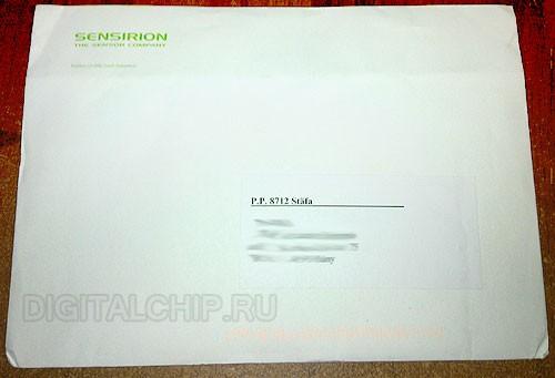 Пакет от Sensirion