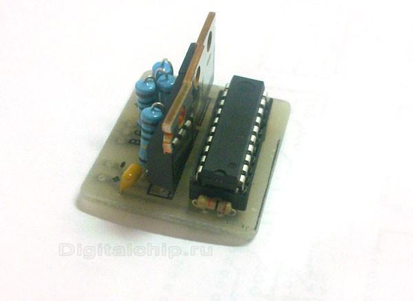 Плата в сборе с микроконтроллером