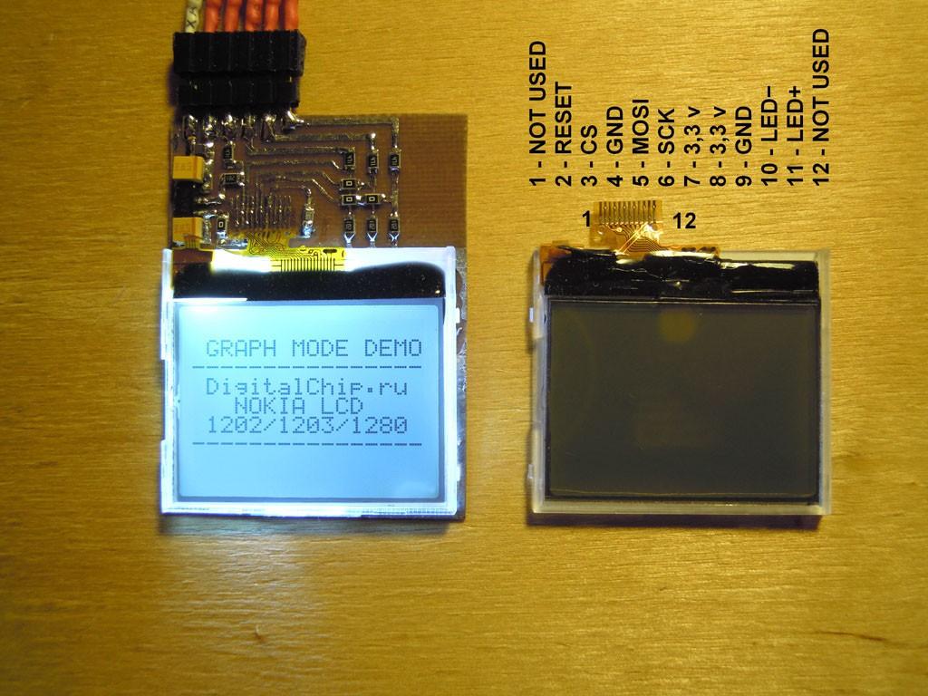 arduino и lcd от nokia 1202, не получается подключить | Аппаратная  платформа Arduino