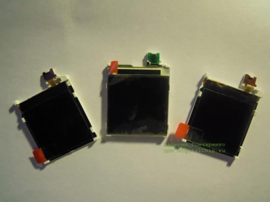 Различные дисплеи Nokia 6610