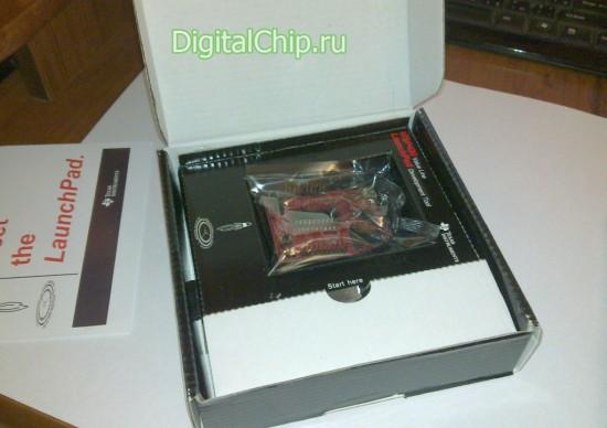 Содержимое коробки с LaunchPad 430