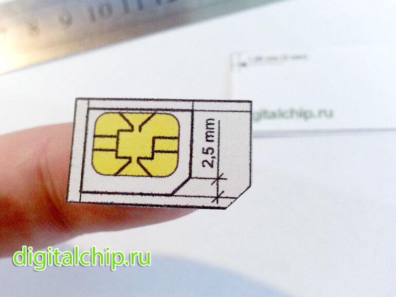 Готовая к вырезанию сим-карта