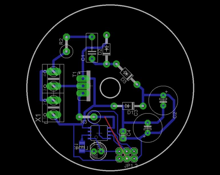 Печатная плата контроллера вытяжного вентилятора